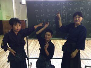 1級合格した6年生団員